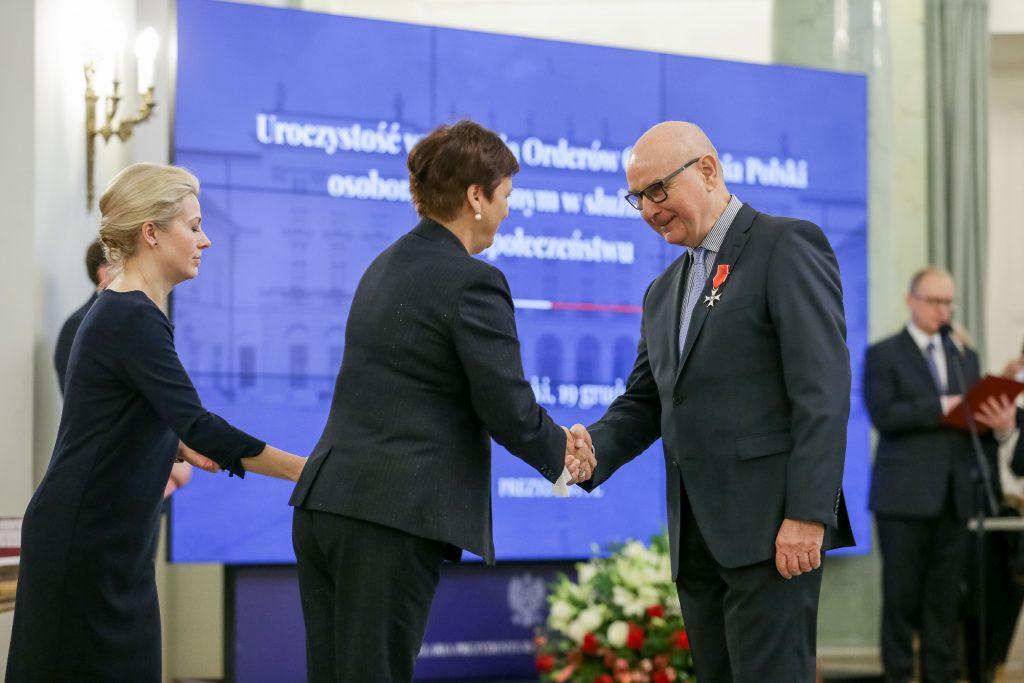 Wręczenie nagrody. Autor zdjęcia: Krzysztof Siktowski / KPRP