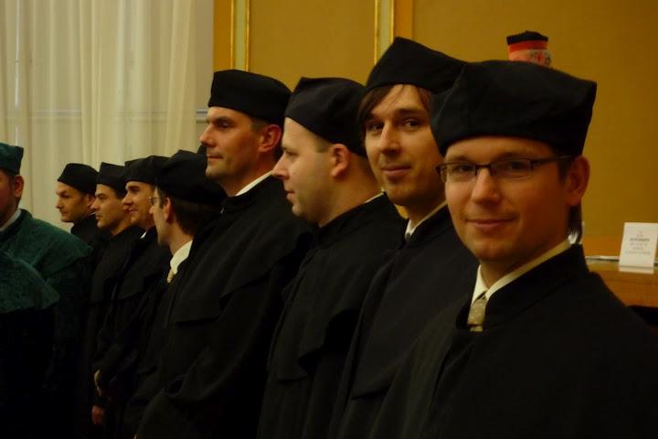 Uroczysta promocja doktorów z Katedry Informatyki Ekonomicznej (na zdjęciu: Andrzej Bassara, Marek Wiśniewski)