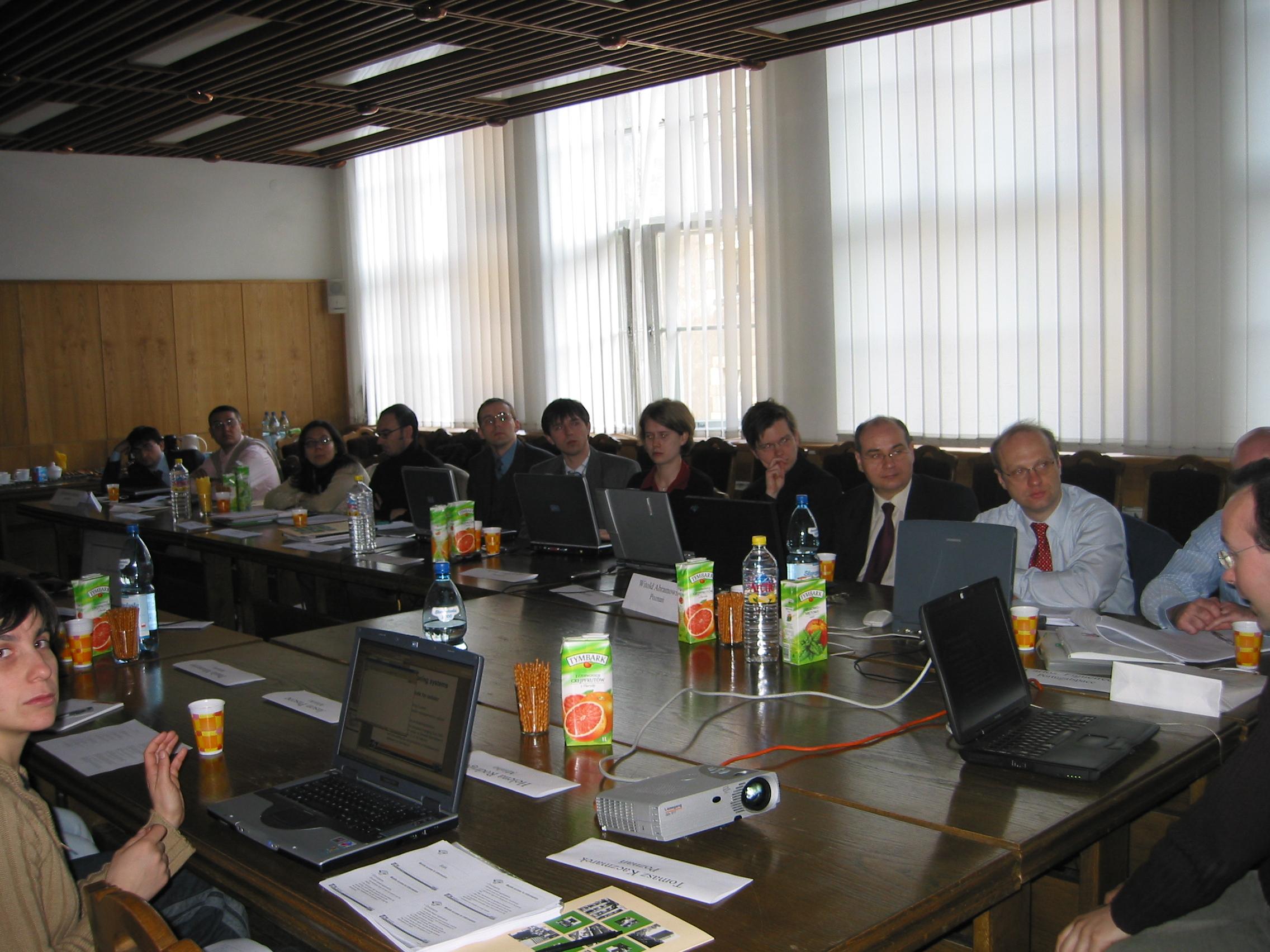 Spotkanie partnerów projektu europejskiego UseMeGov w Akademii Ekonomicznej w Poznaniu - 2004 r.